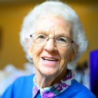 Marie-Theres Montandon, Gast im Wohn- und Pflegezentrum Waldhof in Dotzigen